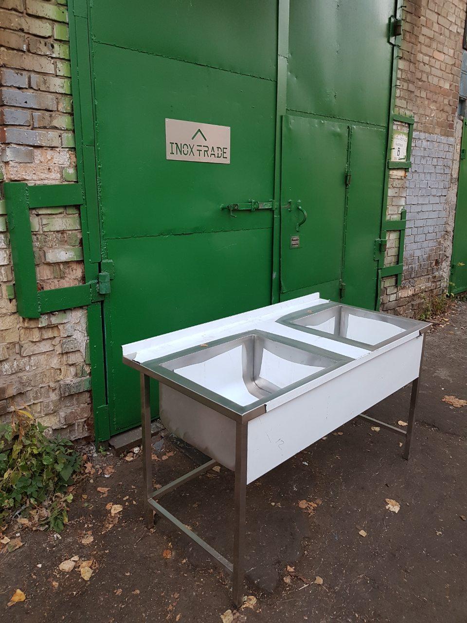 Ванна моечная 2-х секционная (1300 x 600 x 850) - фотография №2