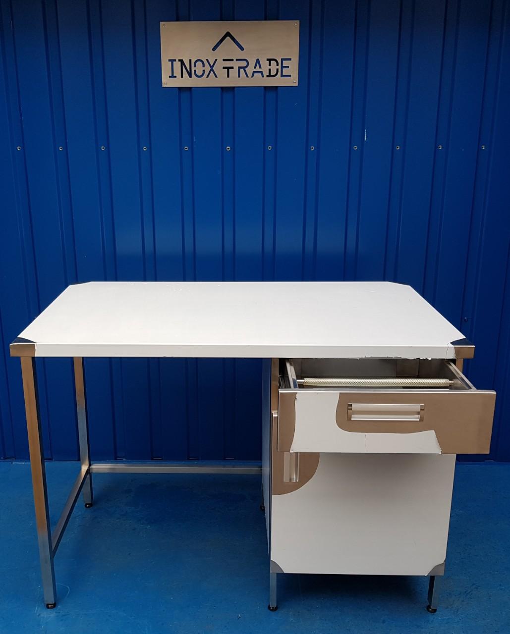 Стол производственный нейтральный 1900мм x 600мм x 850мм - фотография №3