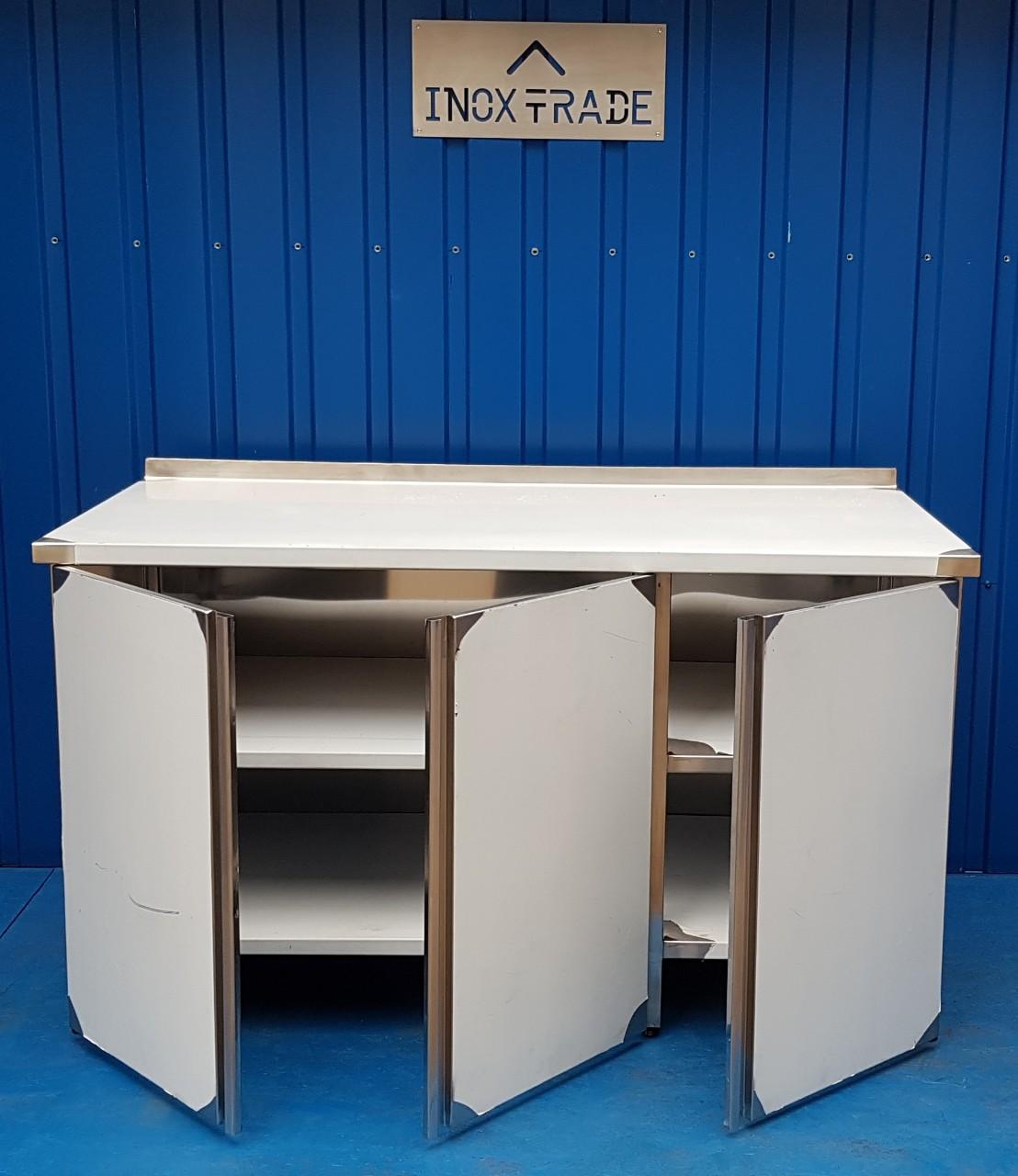 Стол производственный закрытый 1700мм x 600мм x 850мм - фотография