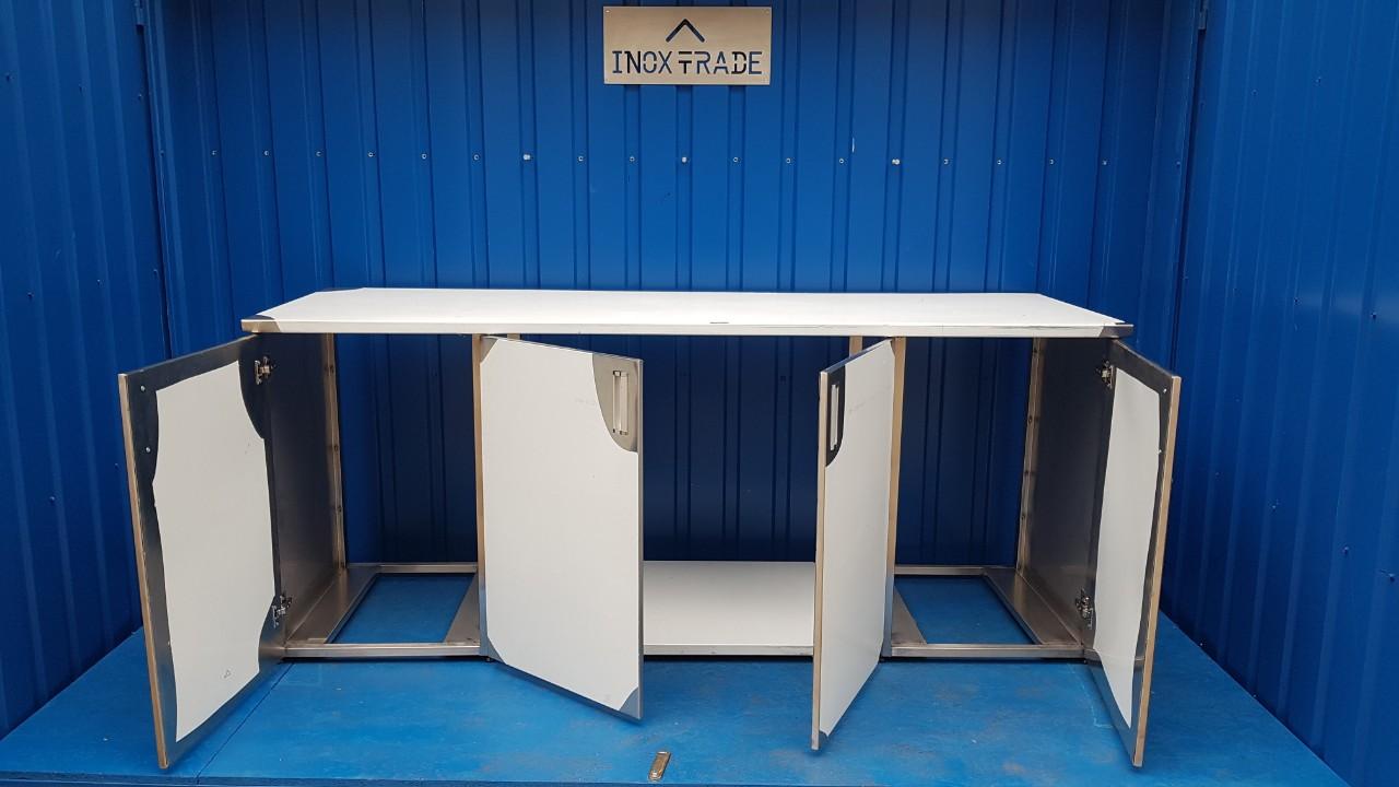 Стол производственный закрытый 1700мм x 600мм x 850мм - фотография №4