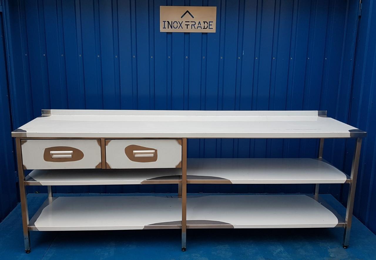 Стол производственный нейтральный 1900мм x 600мм x 850мм - фотография №2