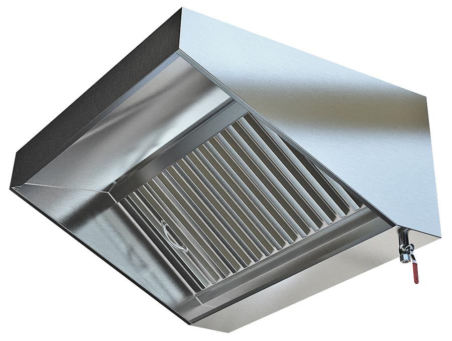 Зонт вытяжной пристенный Прямоугольный (1800x1000x350) - фотография №1
