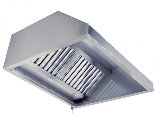 Зонт вытяжной пристенный Трапеция (1300x1000x350) - фотография