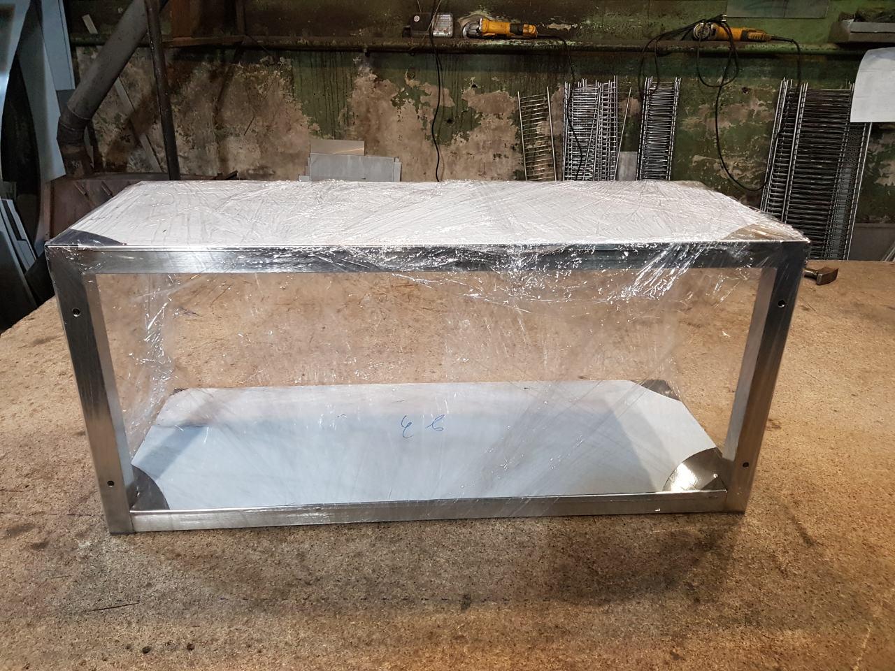 Полка 2-х уровневая нержавейка (1100 x 300 x 350) - фотография №2