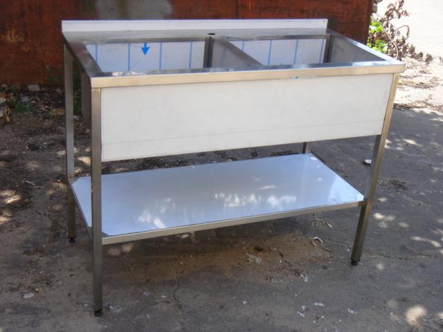 Ванна моечная 2-х секционная сварная (1000 x 600 x 850) - фотография