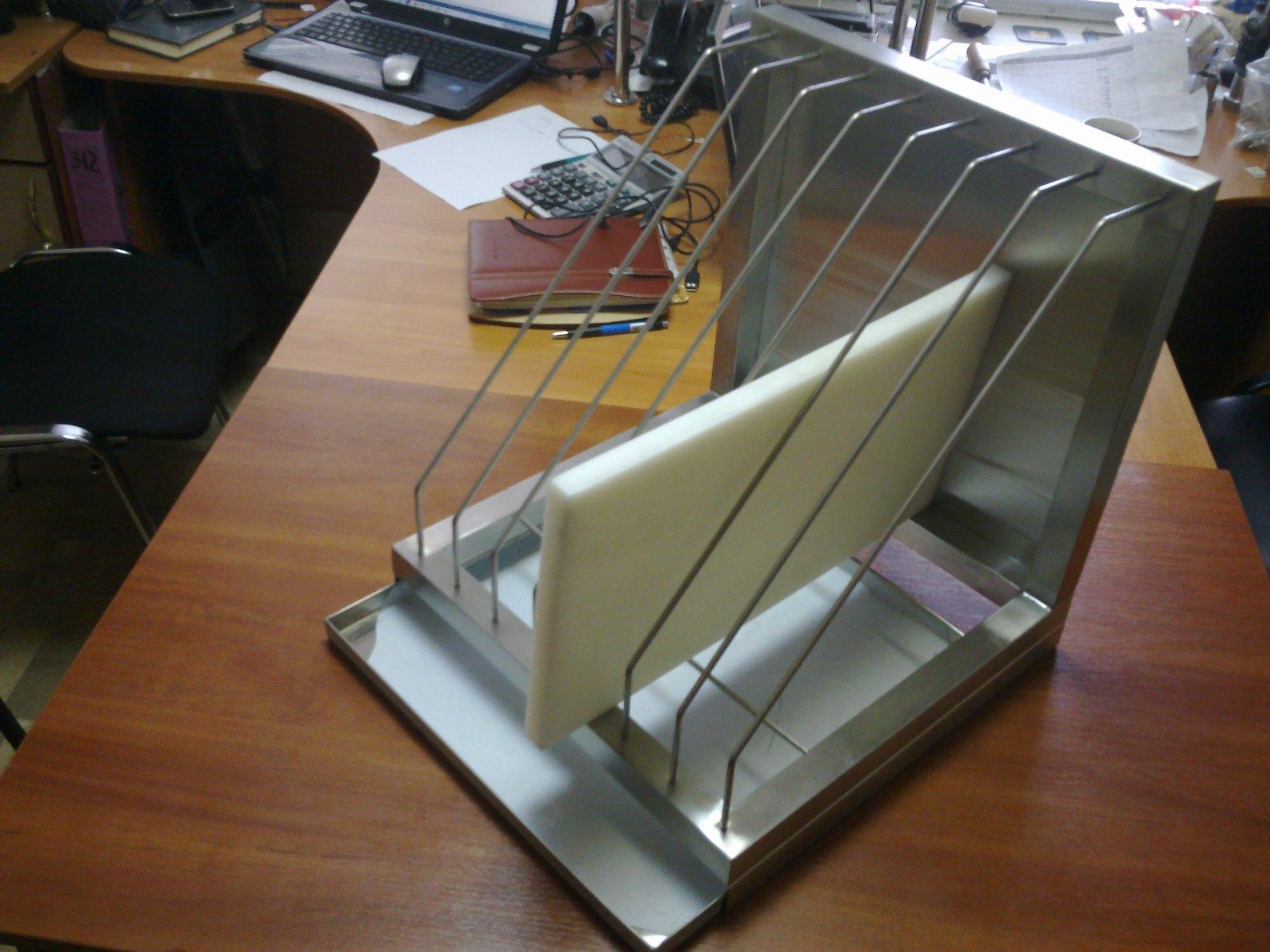 Полка для сушки посуды нержавейка открытая (1100 x 300 x 350) - фотография №5