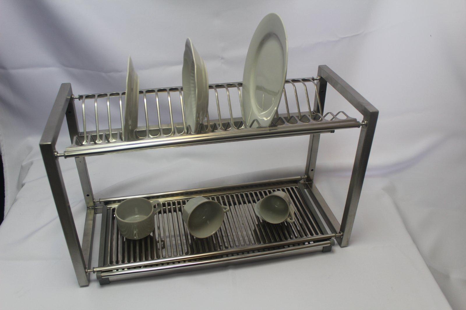 Полка для сушки посуды нержавейка открытая (1100 x 300 x 350) - фотография №7