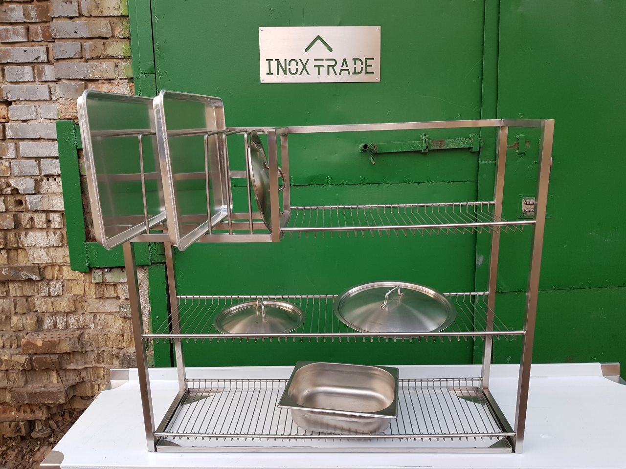 Полка для сушки посуды открытая (800 x 300 x 350) - фотография