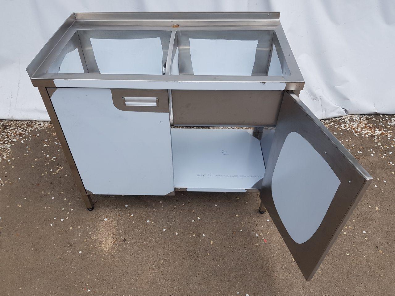 Мойка производственная 2-х секционная сварная (1200 x 600 x 850) - фотография №1