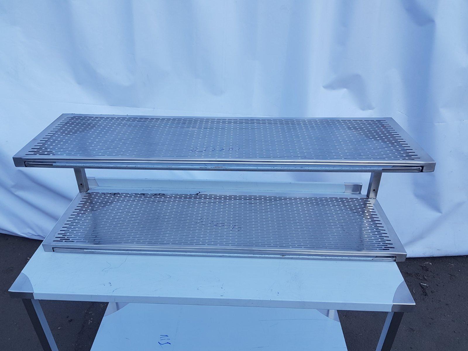 Полка для сушки посуды нержавейка открытая (1100 x 300 x 350) - фотография №3
