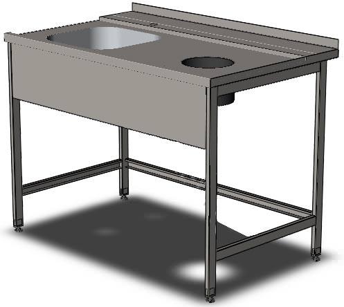 Стол с зацепом к посудомоечной машине 10007 - фотография №2