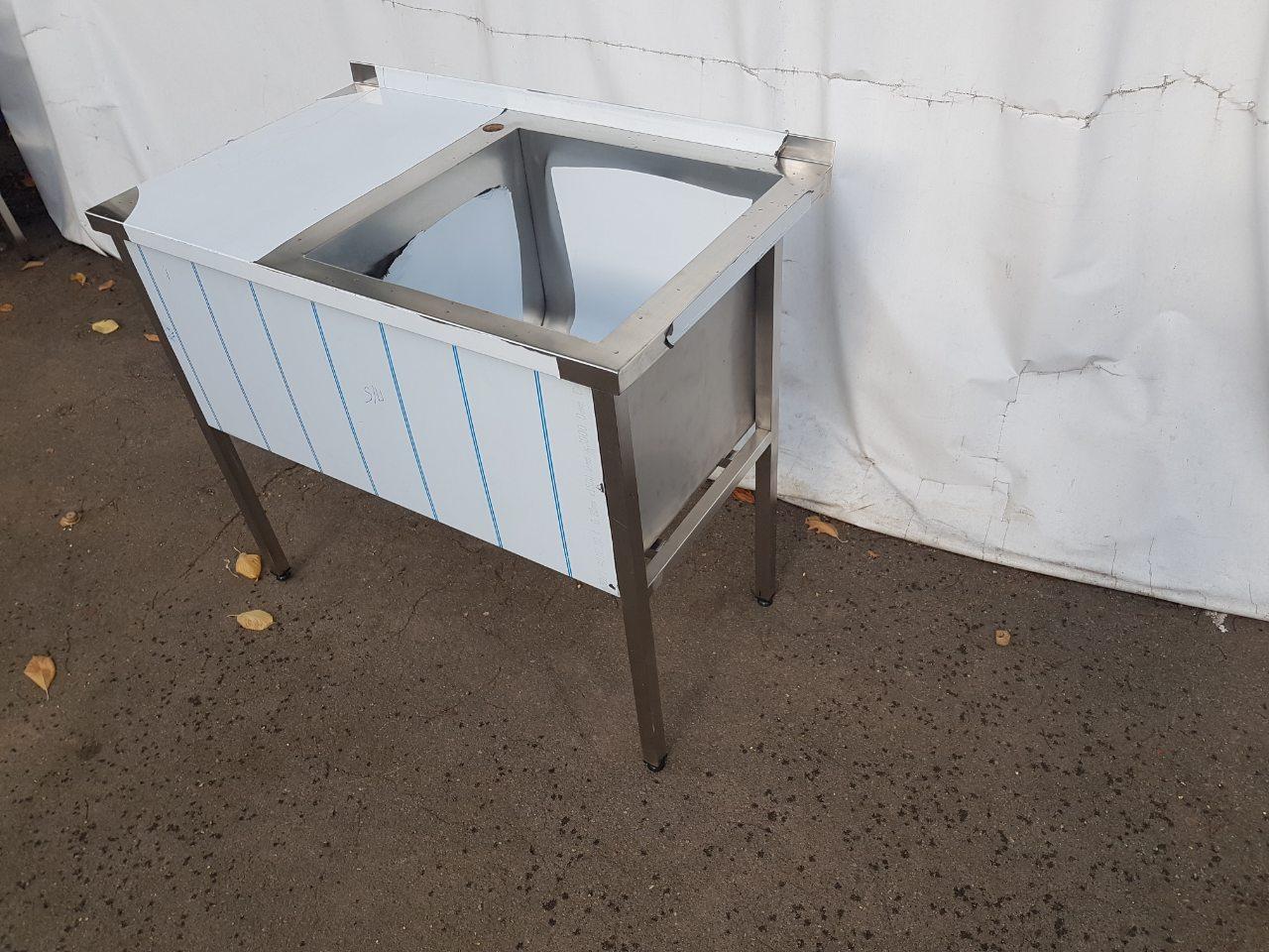 Стол-мойка производственная со сварной чашей 10004 - фотография №5