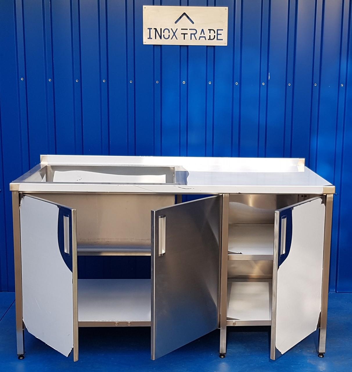 Стол производственный закрытый 1700мм x 600мм x 850мм - фотография №6