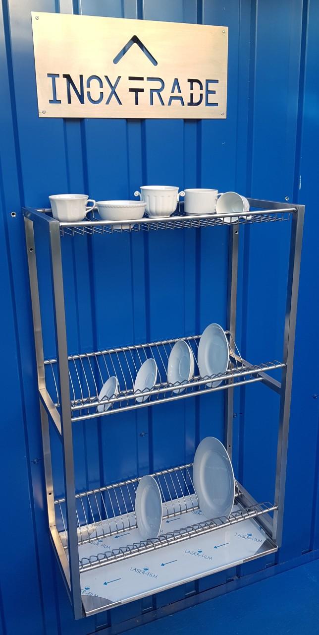 Сушка для посуды из нержавейки  900х300х900мм - фотография