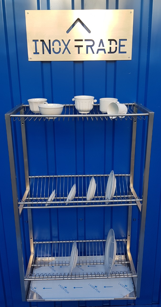 Сушка для посуды из нержавейки 800х300х900мм - фотография