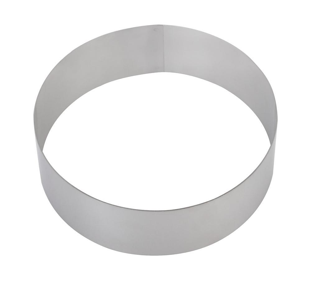 Круглая форма для выпечки (d16см h5см, н/с 201-1,5мм) - фотография