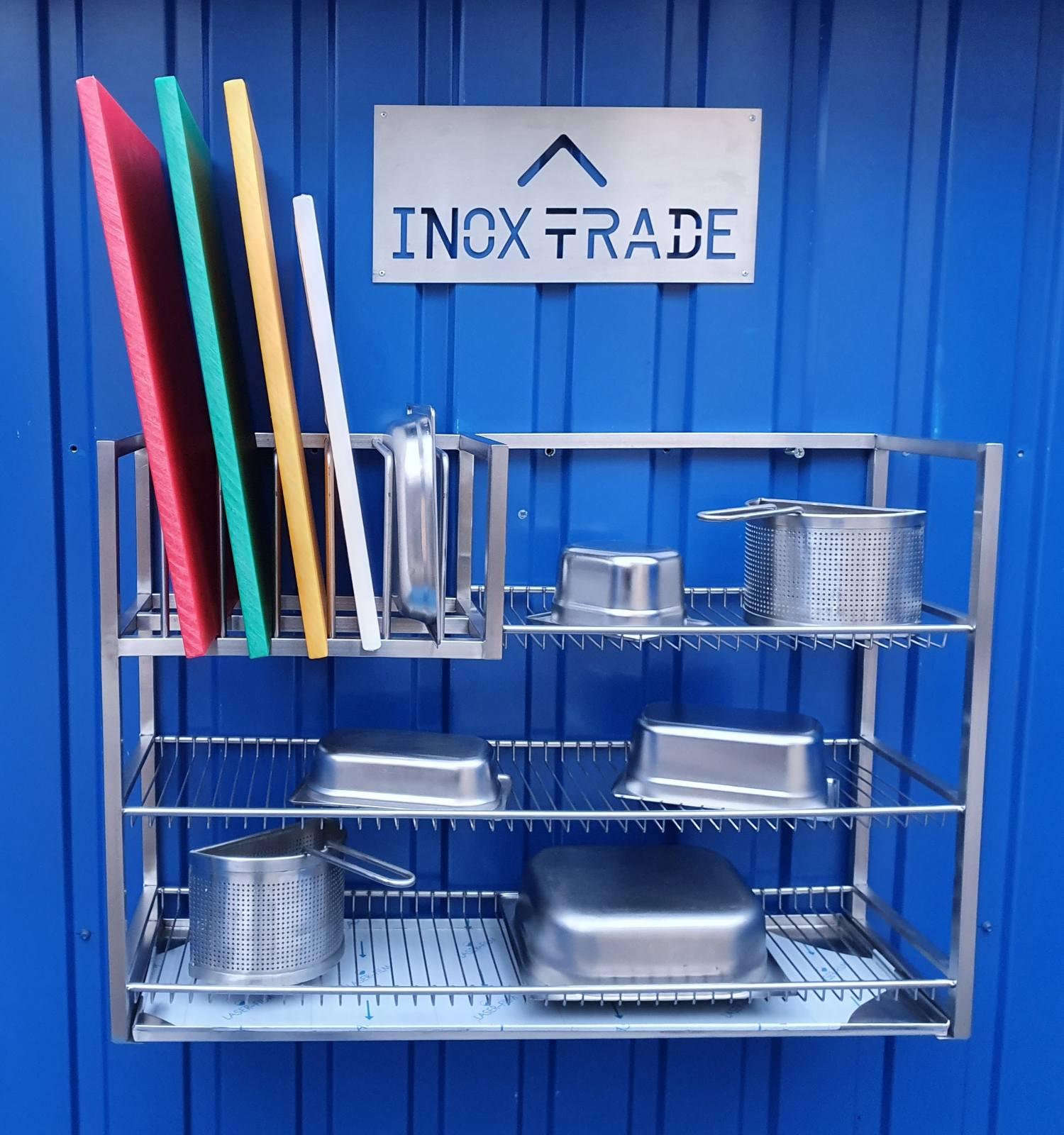 Полка для сушки посуды КОМБИНИРОВАННАЯ открытая (1000x300x690мм) - фотография