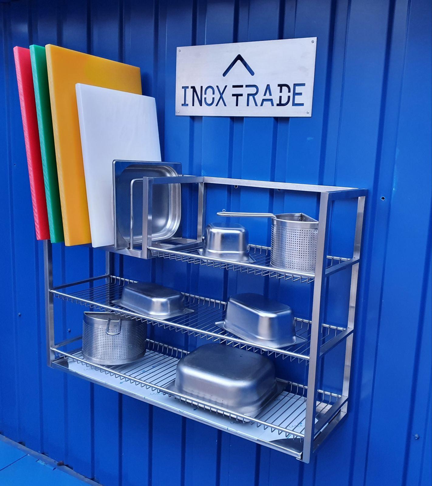 Полка для сушки посуды КОМБИНИРОВАННАЯ открытая (1000x300x690мм) - фотография №1