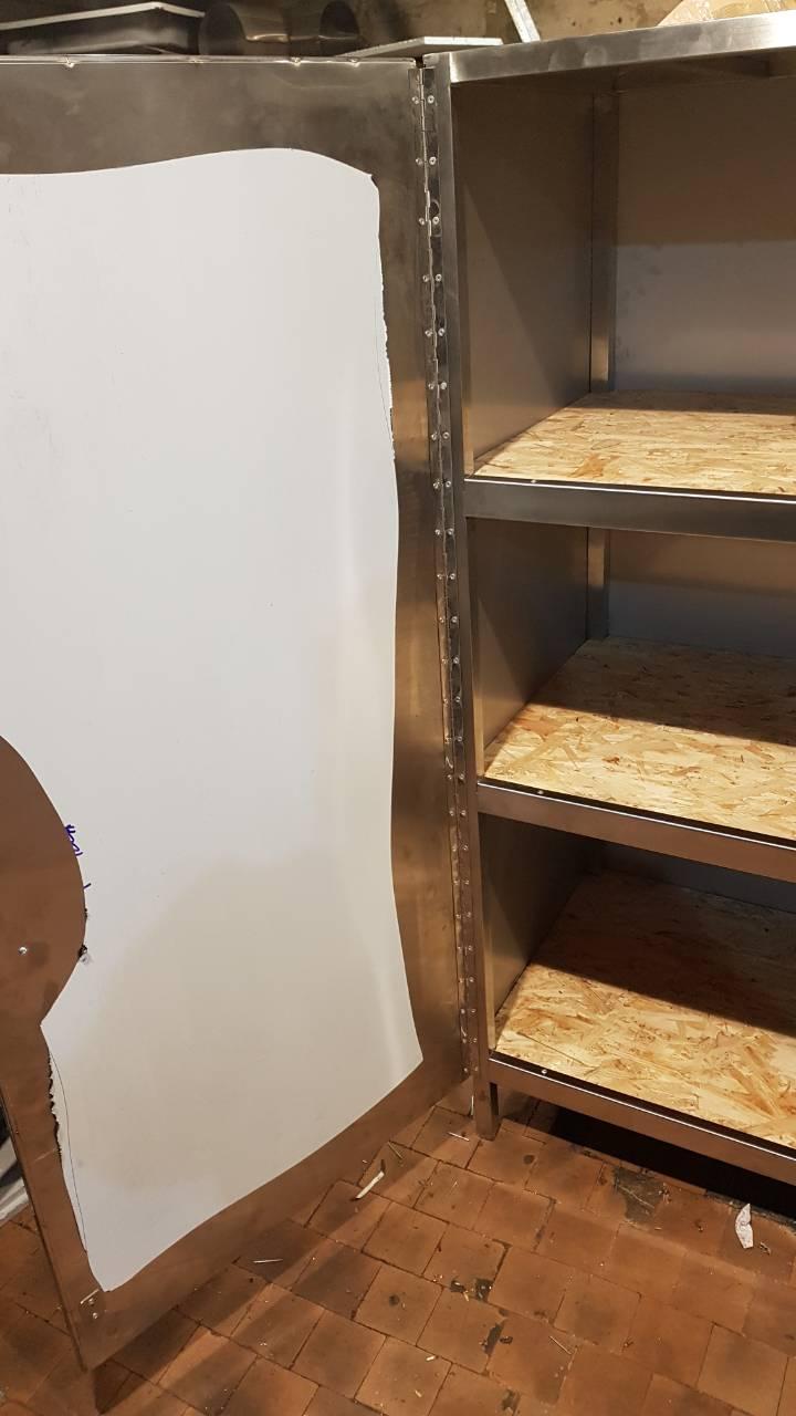 Шкаф из нержавейки напольный (1100 x 500 x 1800) - фотография №1