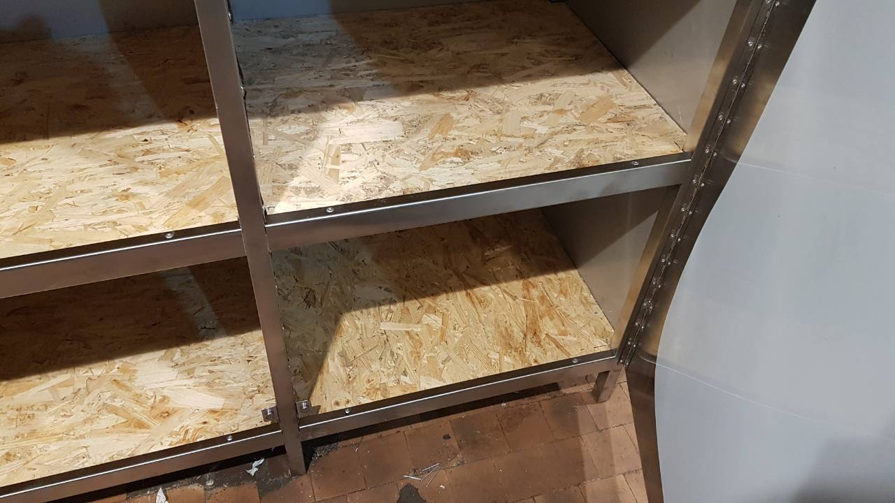 Шкаф из нержавейки напольный (1100 x 500 x 1800) - фотография №2