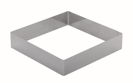 Кондитерская квадратная форма (20х20см h3.5см) - фотография