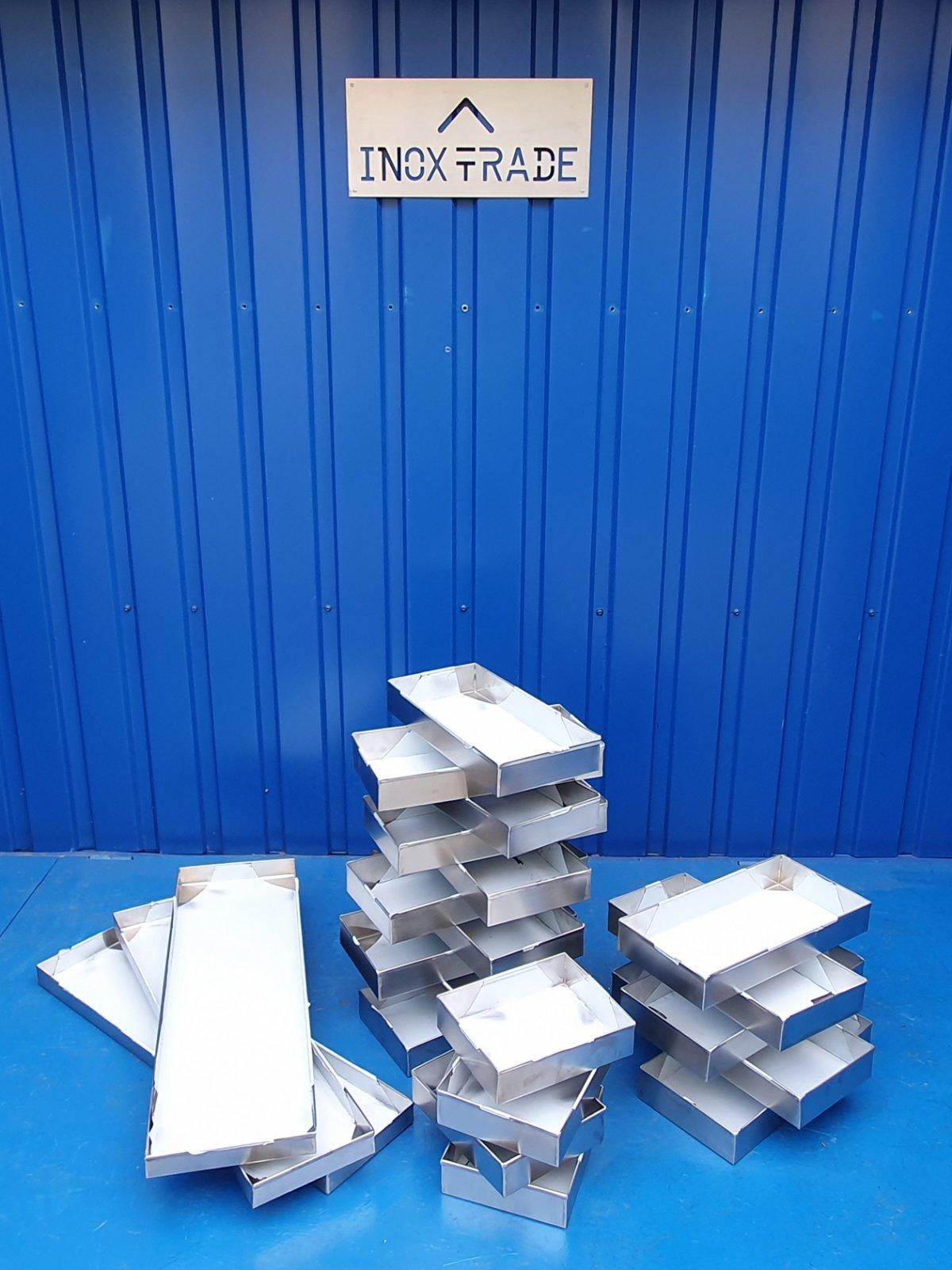 Противень (лоток) из нержавеющей стали (250х200х60) - фотография
